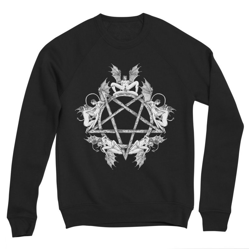 pentalove Men's Sponge Fleece Sweatshirt by sp3ktr's Artist Shop