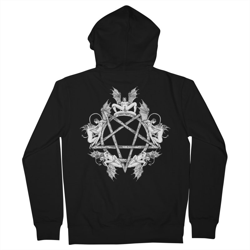 pentalove Men's French Terry Zip-Up Hoody by sp3ktr's Artist Shop