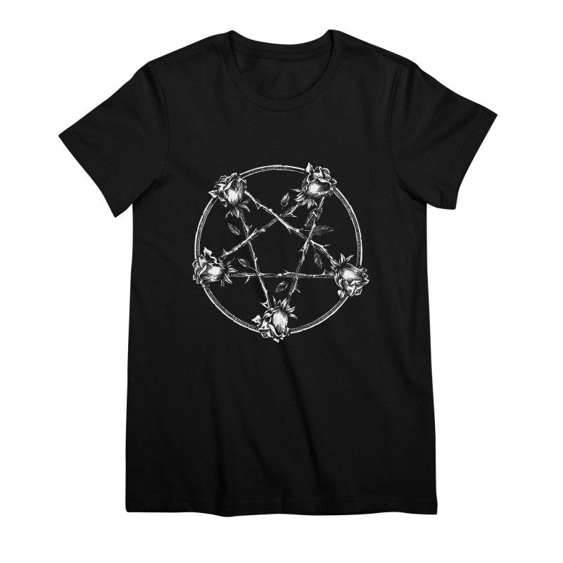 PENTAGRAM ROSE Women's Premium T-Shirt by Sp3ktr's Artist Shop