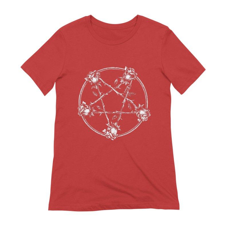 PENTAGRAM ROSE Women's Extra Soft T-Shirt by Sp3ktr's Artist Shop