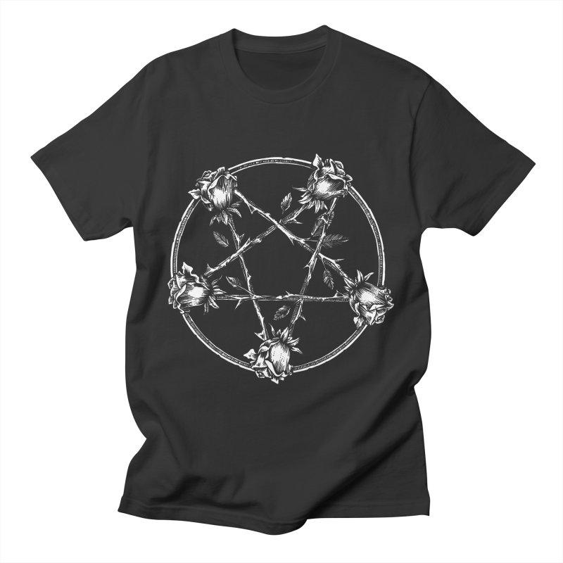 PENTAGRAM ROSE Men's T-Shirt by Sp3ktr's Artist Shop