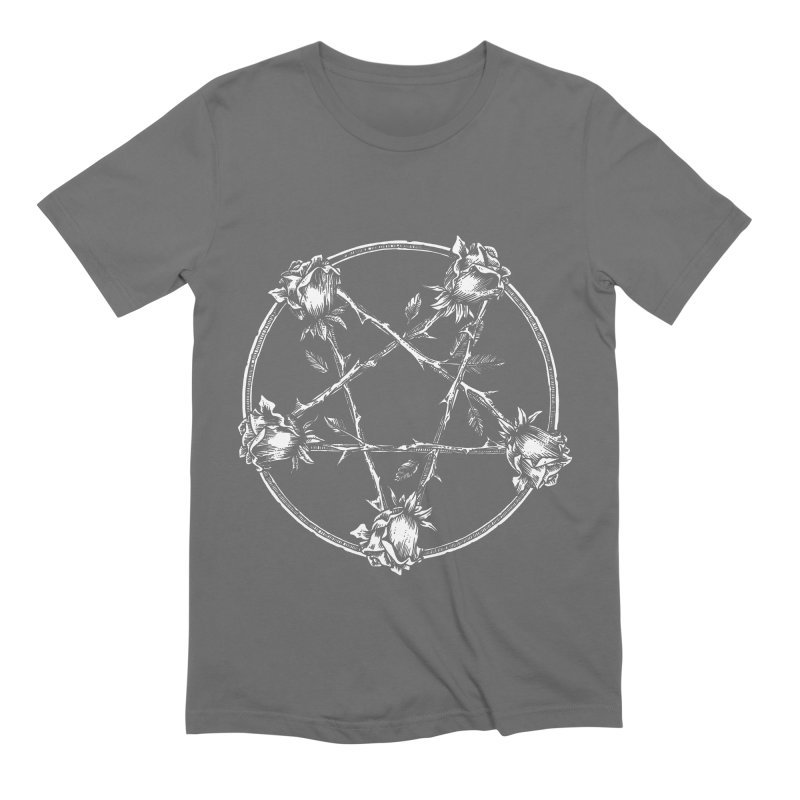 PENTAGRAM ROSE Men's Extra Soft T-Shirt by Sp3ktr's Artist Shop