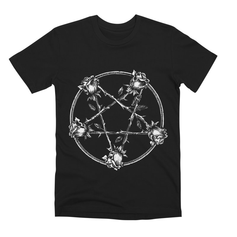 PENTAGRAM ROSE Men's Premium T-Shirt by Sp3ktr's Artist Shop