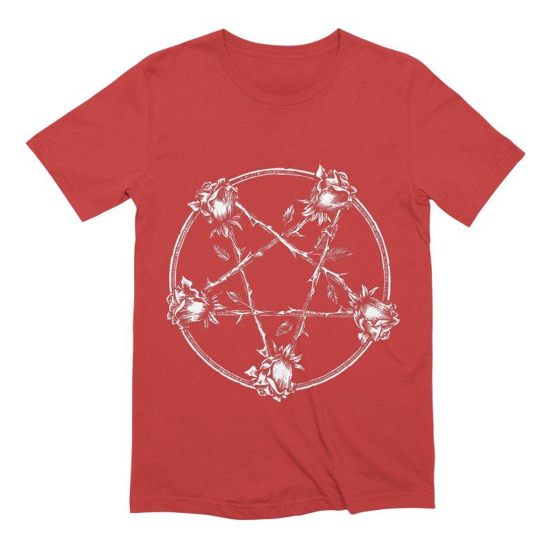 PENTAGRAM ROSE Men's Extra Soft T-Shirt by sp3ktr's Artist Shop