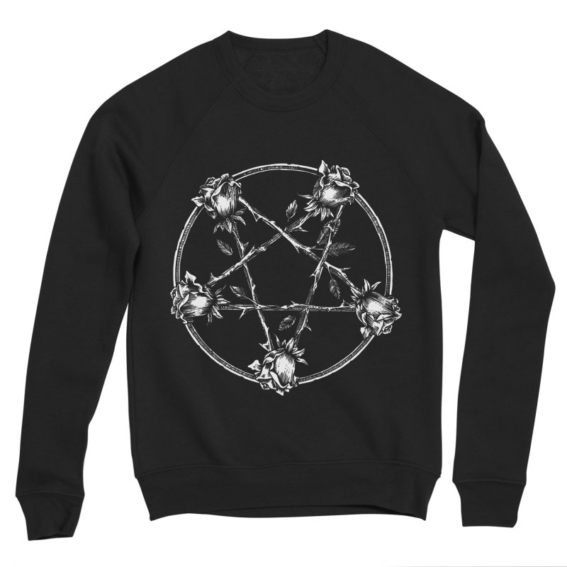 PENTAGRAM ROSE Men's Sponge Fleece Sweatshirt by sp3ktr's Artist Shop