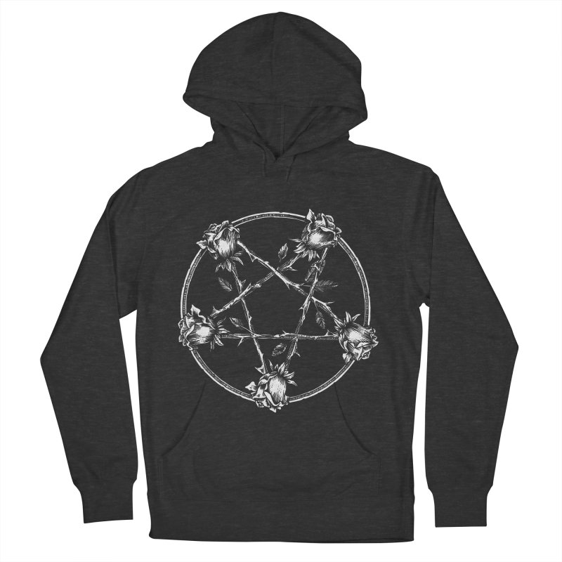 PENTAGRAM ROSE Women's French Terry Pullover Hoody by Sp3ktr's Artist Shop