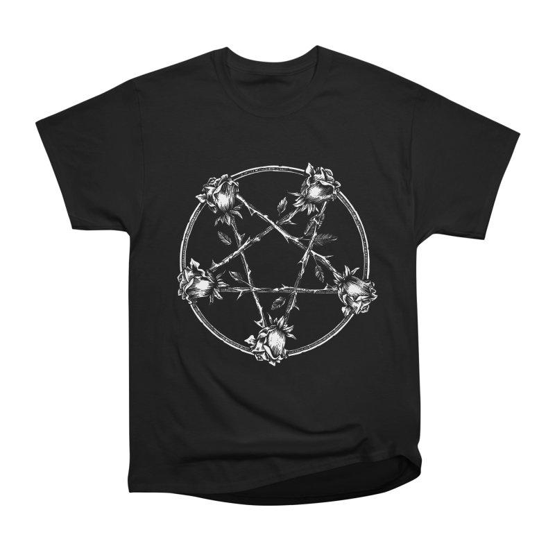PENTAGRAM ROSE Men's Heavyweight T-Shirt by Sp3ktr's Artist Shop