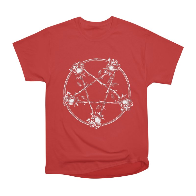 PENTAGRAM ROSE Men's Heavyweight T-Shirt by sp3ktr's Artist Shop
