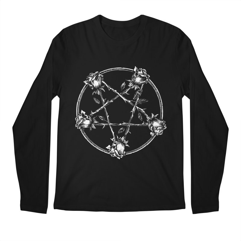 PENTAGRAM ROSE Men's Regular Longsleeve T-Shirt by Sp3ktr's Artist Shop