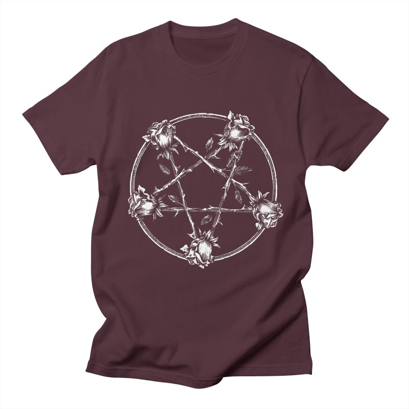 PENTAGRAM ROSE Women's Regular Unisex T-Shirt by sp3ktr's Artist Shop