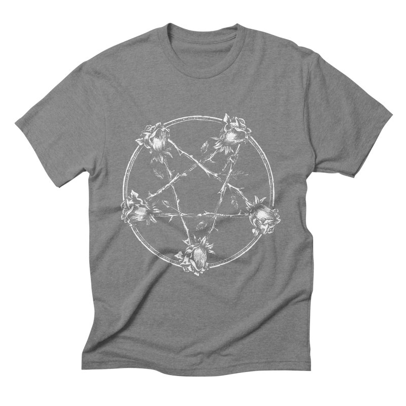 PENTAGRAM ROSE Men's Triblend T-Shirt by sp3ktr's Artist Shop
