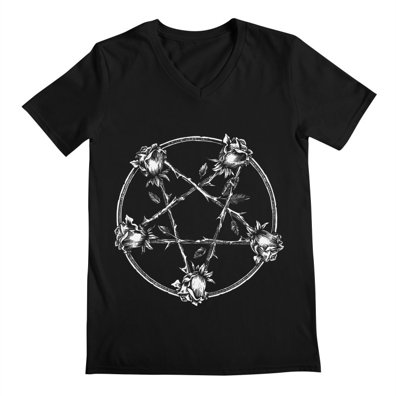 PENTAGRAM ROSE Men's Regular V-Neck by Sp3ktr's Artist Shop
