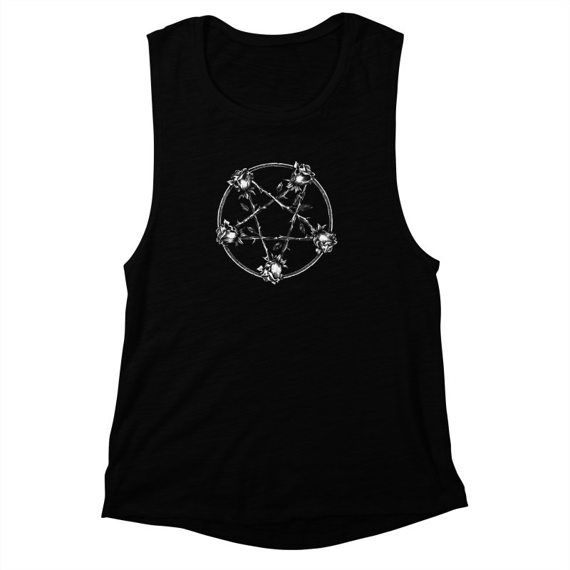 PENTAGRAM ROSE Women's Muscle Tank by Sp3ktr's Artist Shop