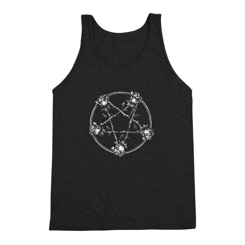 PENTAGRAM ROSE Men's Triblend Tank by sp3ktr's Artist Shop