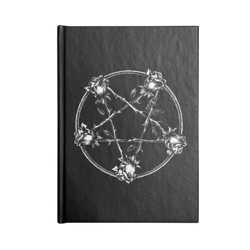 PENTAGRAM ROSE Accessories Lined Journal Notebook by Sp3ktr's Artist Shop