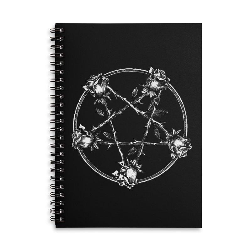 PENTAGRAM ROSE Accessories Lined Spiral Notebook by Sp3ktr's Artist Shop
