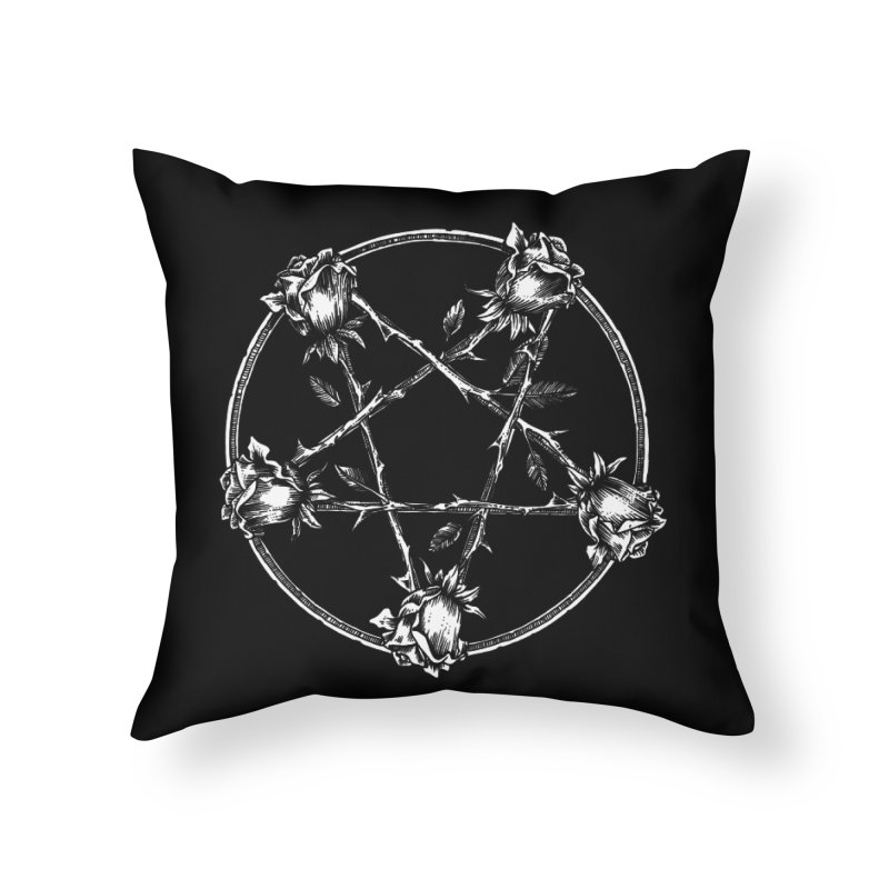PENTAGRAM ROSE Home Throw Pillow by Sp3ktr's Artist Shop