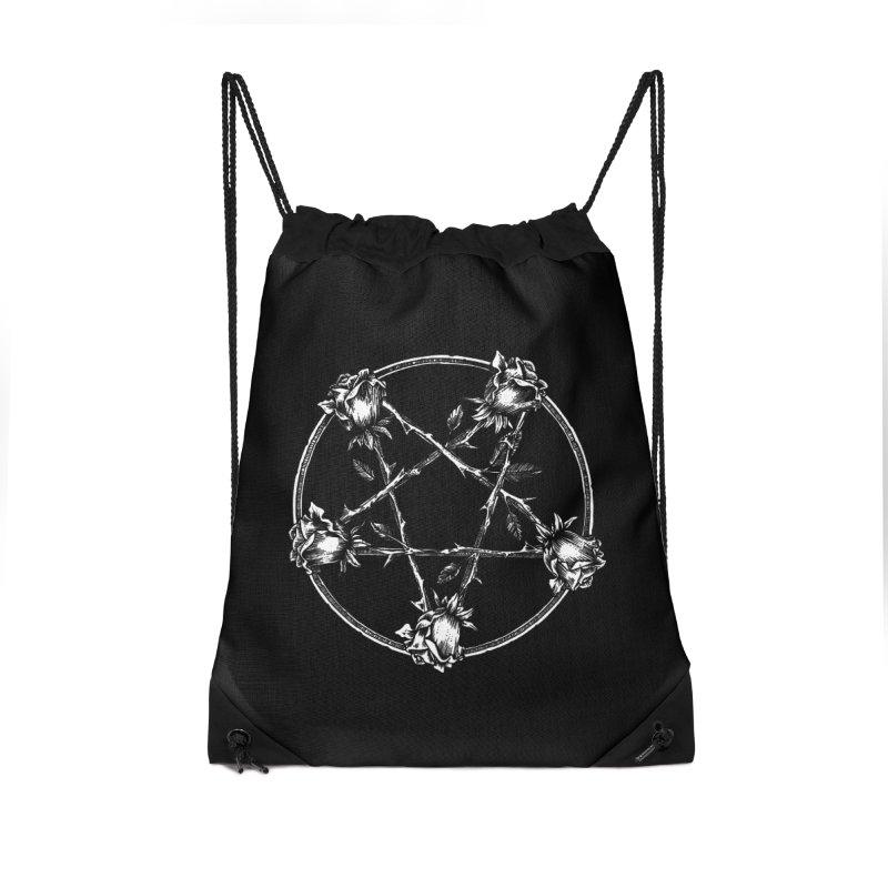 PENTAGRAM ROSE Accessories Drawstring Bag Bag by Sp3ktr's Artist Shop
