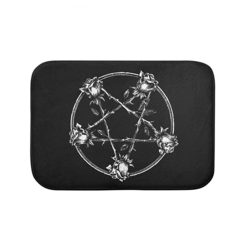 PENTAGRAM ROSE Home Bath Mat by Sp3ktr's Artist Shop