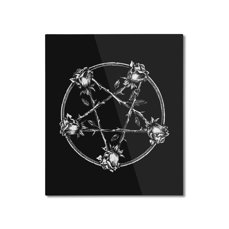 PENTAGRAM ROSE Home Mounted Aluminum Print by sp3ktr's Artist Shop