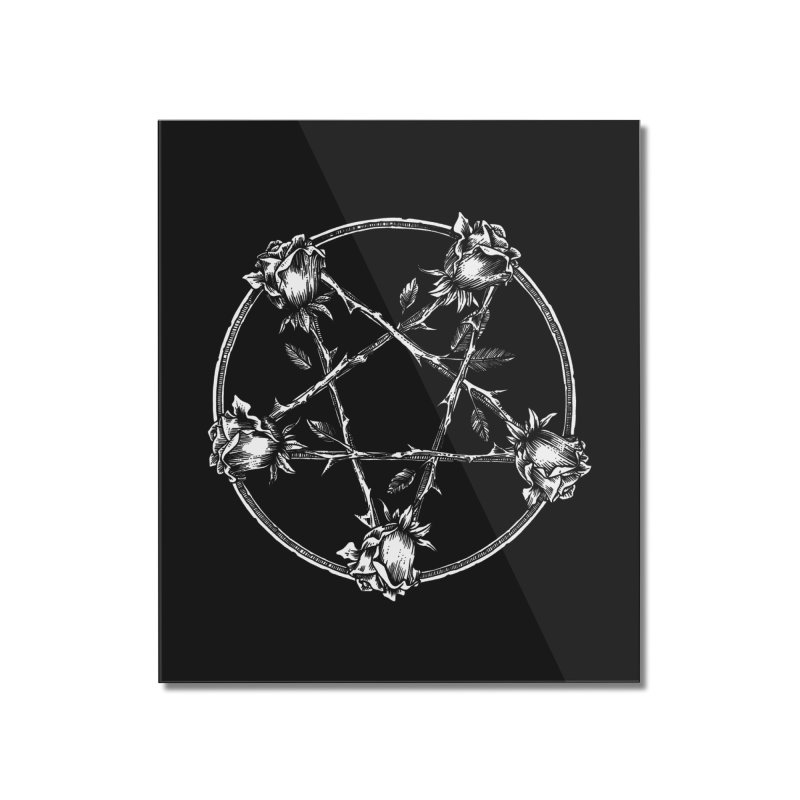 PENTAGRAM ROSE Home Mounted Acrylic Print by sp3ktr's Artist Shop
