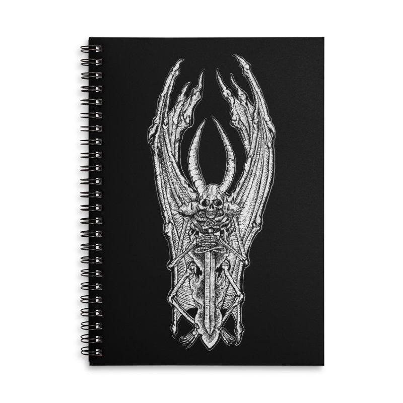 DEMON SWORD Accessories Lined Spiral Notebook by Sp3ktr's Artist Shop