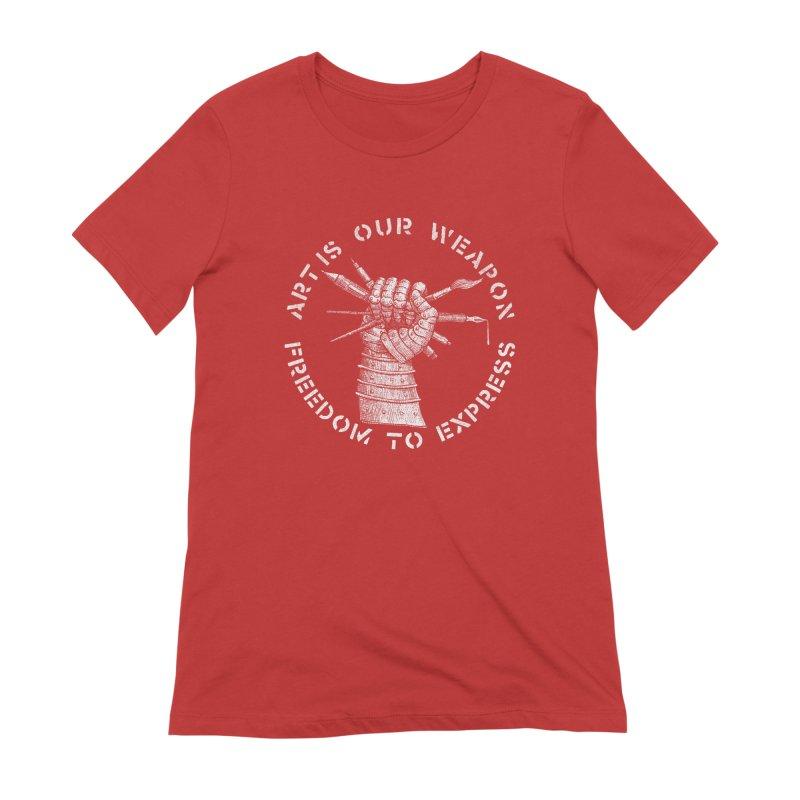 art weapon Women's Extra Soft T-Shirt by Sp3ktr's Artist Shop