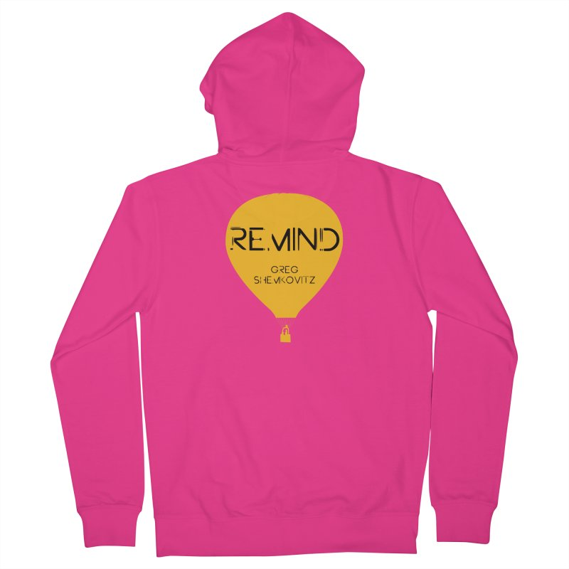 REMIND Balloon A Men's French Terry Zip-Up Hoody by Spaceboy Books LLC's Artist Shop