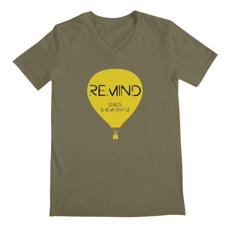 REMIND Balloon A Men's Regular V-Neck by Spaceboy Books LLC's Artist Shop