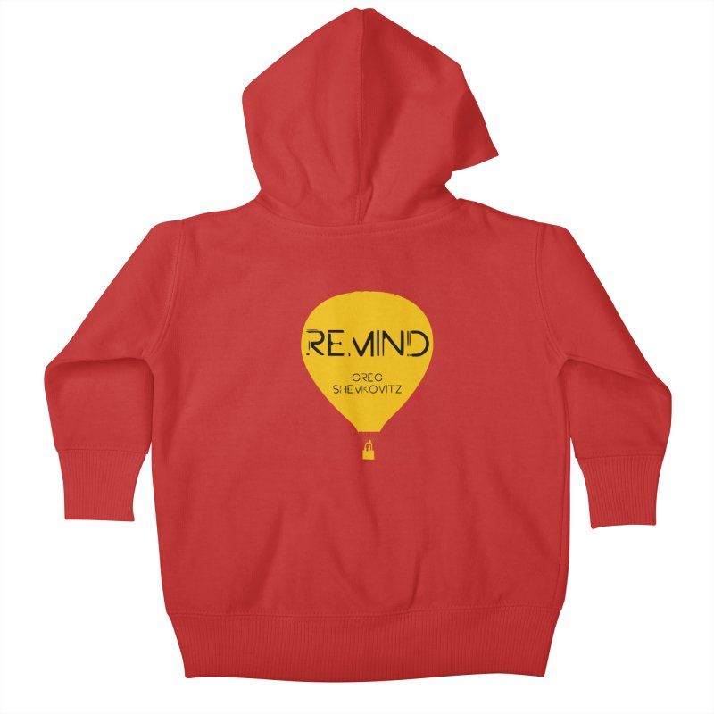 REMIND Balloon A Kids Baby Zip-Up Hoody by Spaceboy Books LLC's Artist Shop