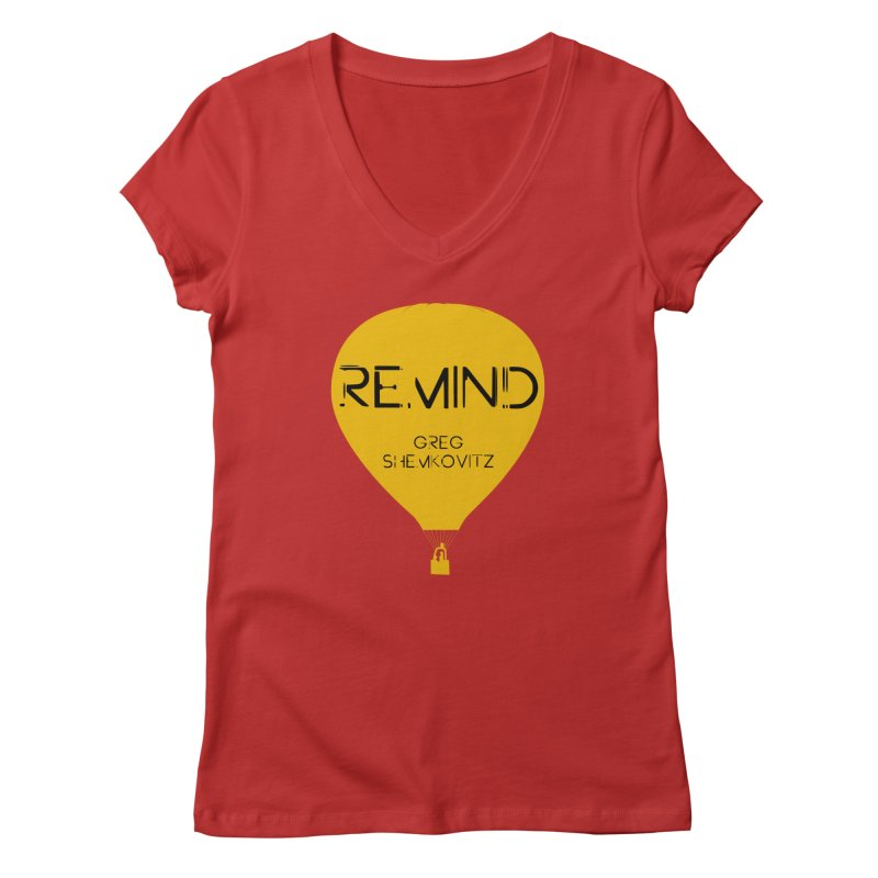 REMIND Balloon A Women's Regular V-Neck by Spaceboy Books LLC's Artist Shop