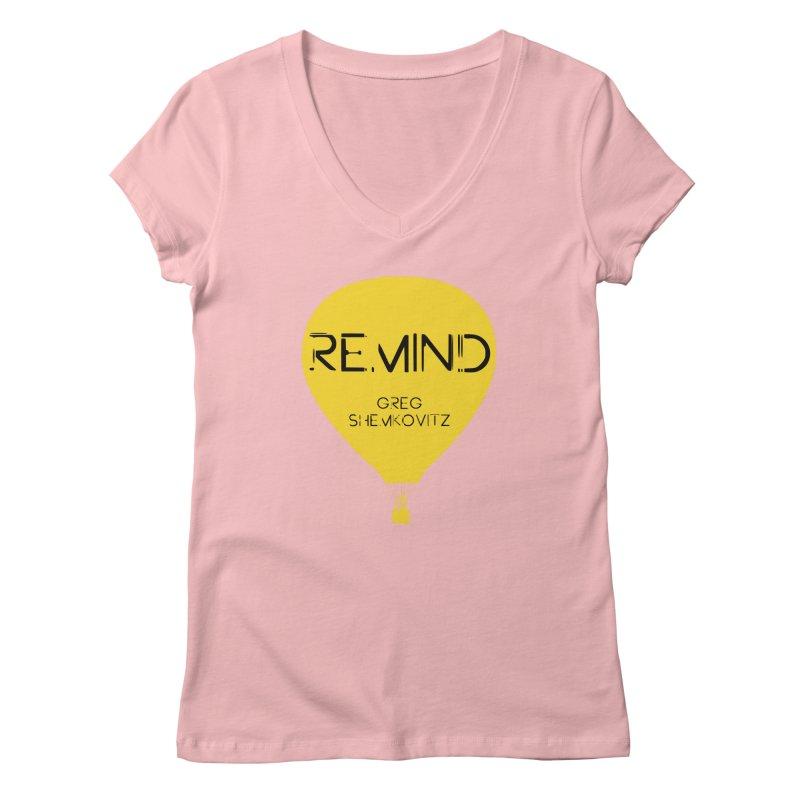 REMIND Balloon A Women's Regular V-Neck by Spaceboy Books LLC's Artist Shop