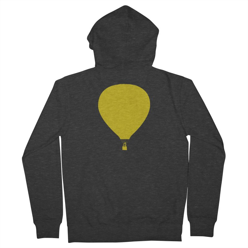 REMIND Balloon B Men's French Terry Zip-Up Hoody by Spaceboy Books LLC's Artist Shop
