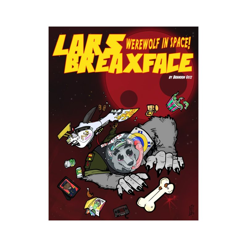 Lars Breaxface Cover - Brian Gonnella Women's V-Neck by Spaceboy Books LLC's Artist Shop