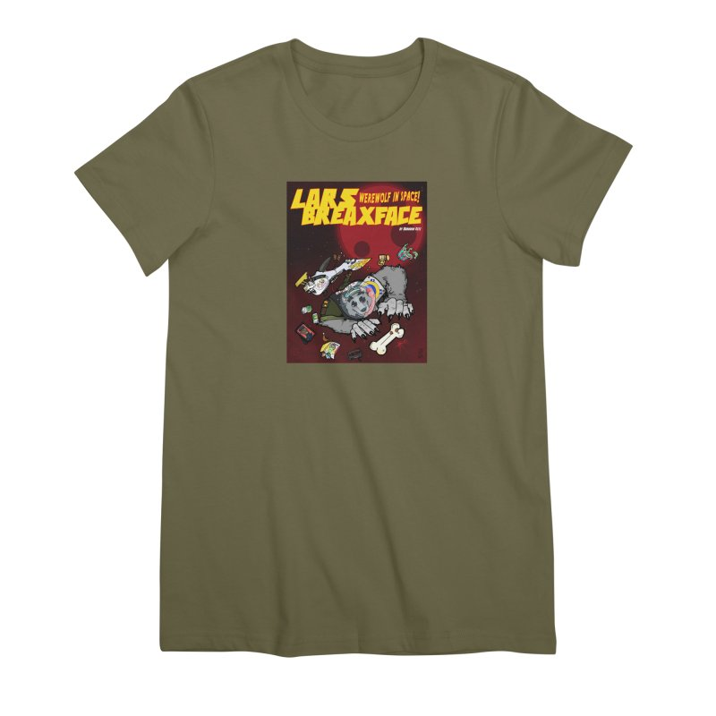 Lars Breaxface Cover - Brian Gonnella Women's Premium T-Shirt by Spaceboy Books LLC's Artist Shop