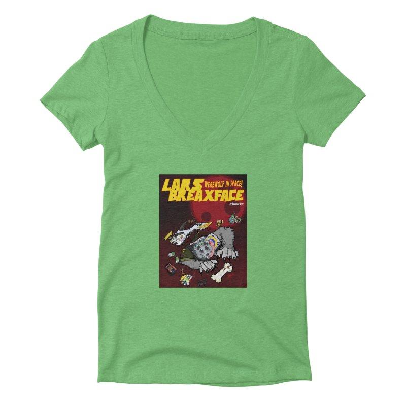 Lars Breaxface Cover - Brian Gonnella Women's Deep V-Neck V-Neck by Spaceboy Books LLC's Artist Shop