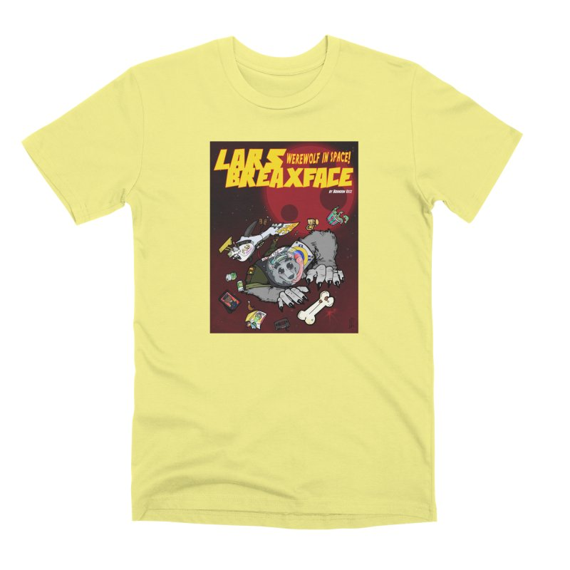 Lars Breaxface Cover - Brian Gonnella Men's Premium T-Shirt by Spaceboy Books LLC's Artist Shop