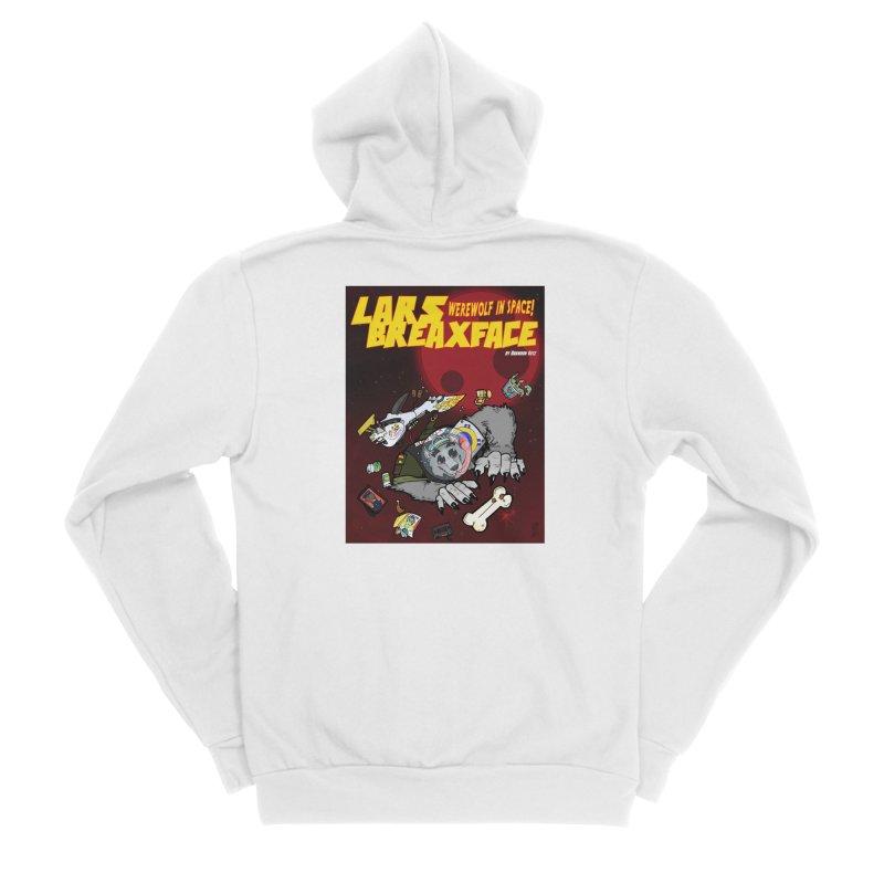 Lars Breaxface Cover - Brian Gonnella Men's Sponge Fleece Zip-Up Hoody by Spaceboy Books LLC's Artist Shop