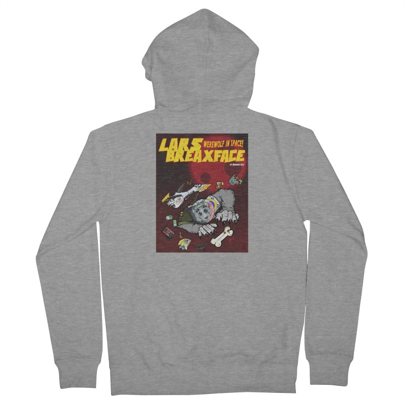 Lars Breaxface Cover - Brian Gonnella Women's French Terry Zip-Up Hoody by Spaceboy Books LLC's Artist Shop