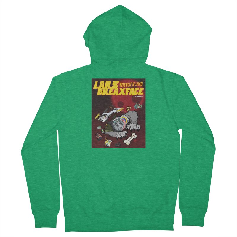 Lars Breaxface Cover - Brian Gonnella Men's French Terry Zip-Up Hoody by Spaceboy Books LLC's Artist Shop
