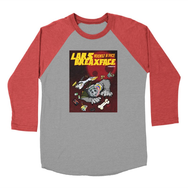 Lars Breaxface Cover - Brian Gonnella Women's Baseball Triblend Longsleeve T-Shirt by Spaceboy Books LLC's Artist Shop