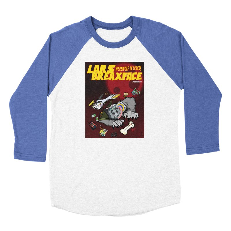 Lars Breaxface Cover - Brian Gonnella Men's Baseball Triblend Longsleeve T-Shirt by Spaceboy Books LLC's Artist Shop