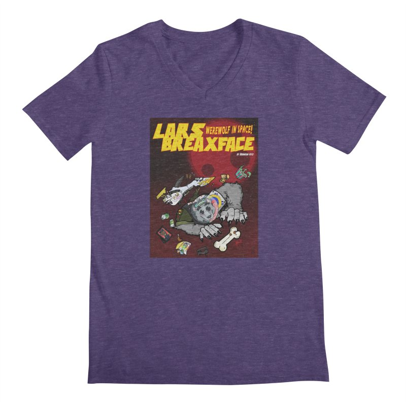 Lars Breaxface Cover - Brian Gonnella Men's Regular V-Neck by Spaceboy Books LLC's Artist Shop