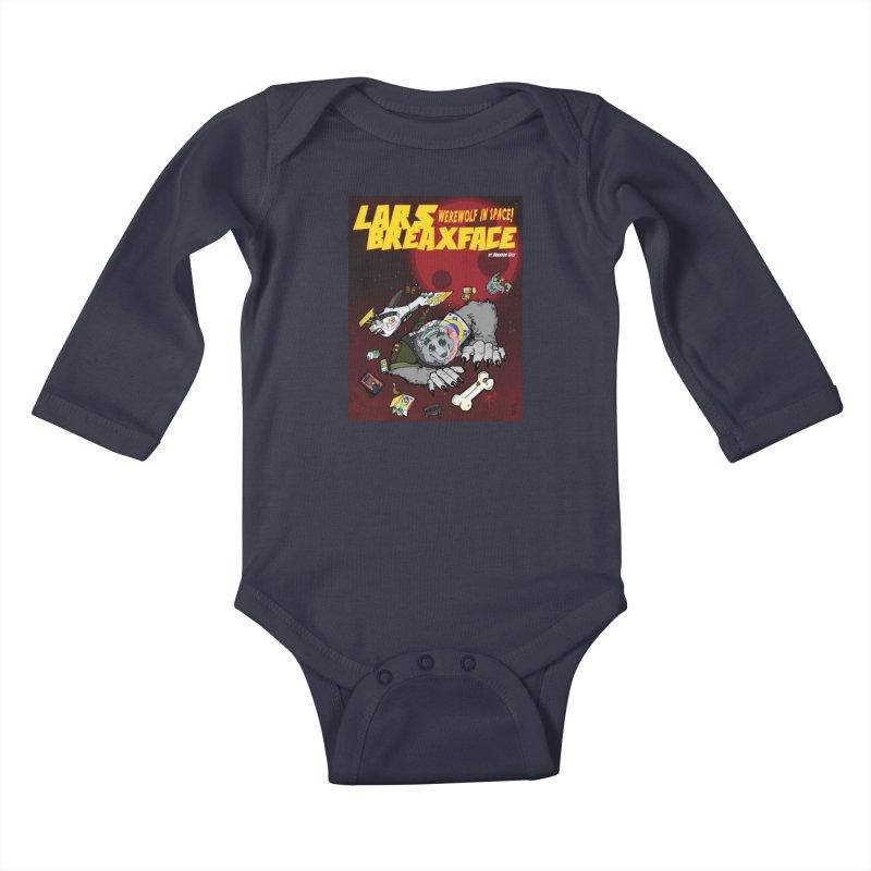 Lars Breaxface Cover - Brian Gonnella Kids Baby Longsleeve Bodysuit by Spaceboy Books LLC's Artist Shop