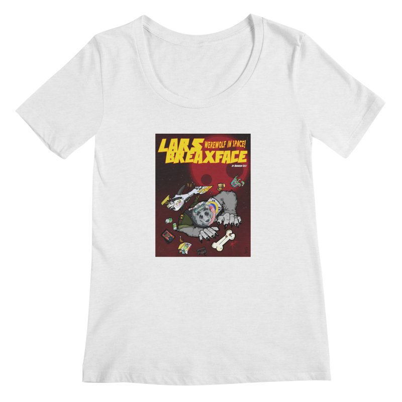Lars Breaxface Cover - Brian Gonnella Women's Scoop Neck by Spaceboy Books LLC's Artist Shop