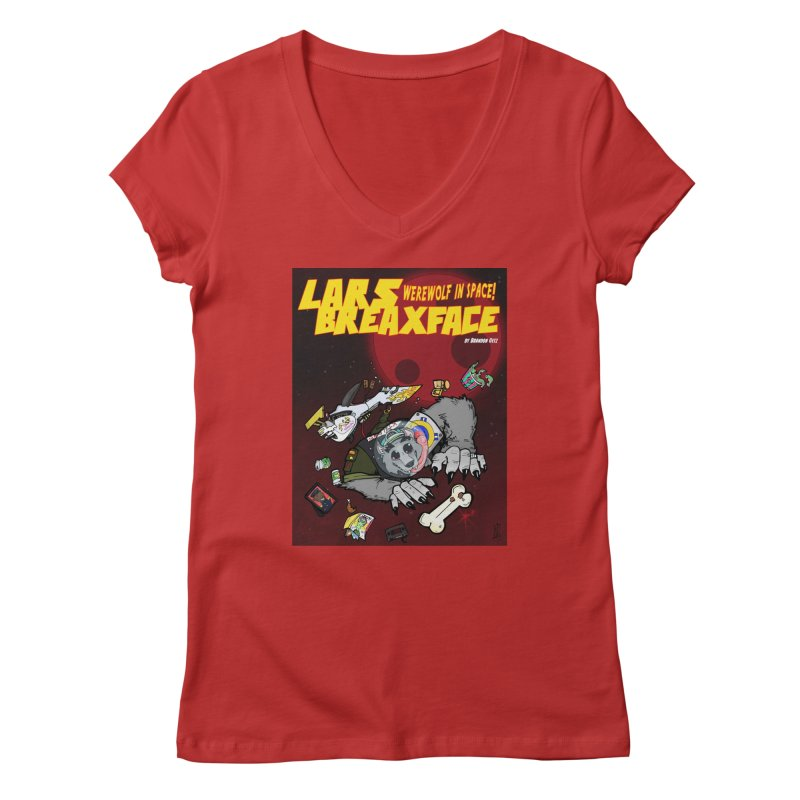 Lars Breaxface Cover - Brian Gonnella Women's Regular V-Neck by Spaceboy Books LLC's Artist Shop