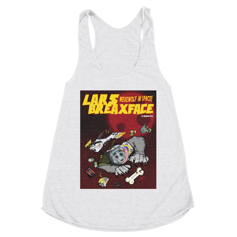 Lars Breaxface Cover - Brian Gonnella Women's Racerback Triblend Tank by Spaceboy Books LLC's Artist Shop