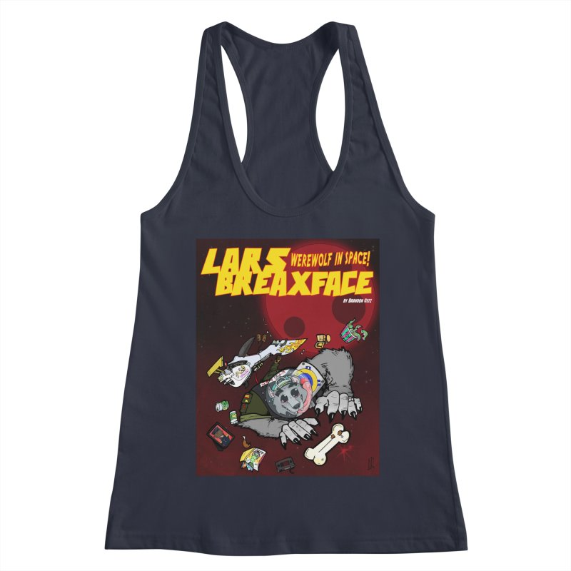 Lars Breaxface Cover - Brian Gonnella Women's Racerback Tank by Spaceboy Books LLC's Artist Shop