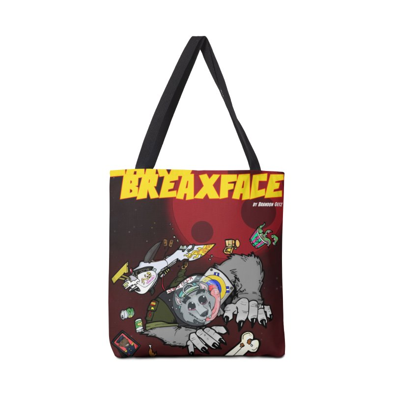 Lars Breaxface Cover - Brian Gonnella Accessories Tote Bag Bag by Spaceboy Books LLC's Artist Shop