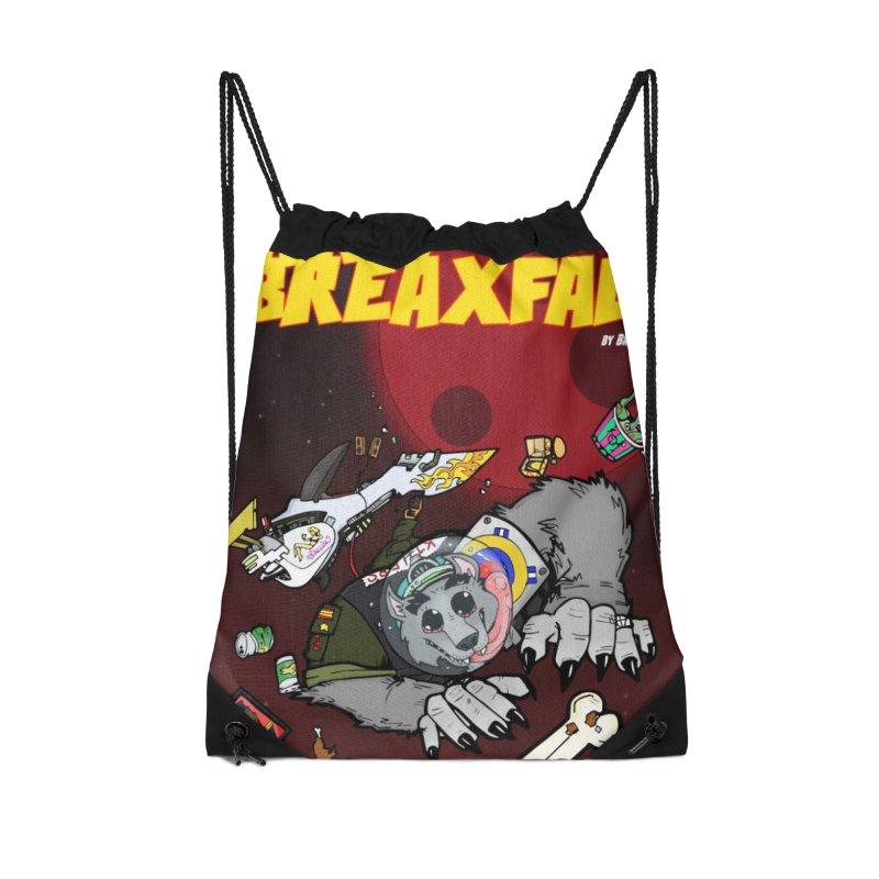 Lars Breaxface Cover - Brian Gonnella Accessories Drawstring Bag Bag by Spaceboy Books LLC's Artist Shop